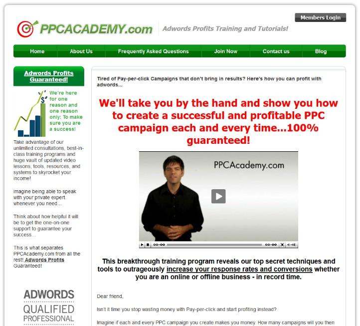 Ppc academy website