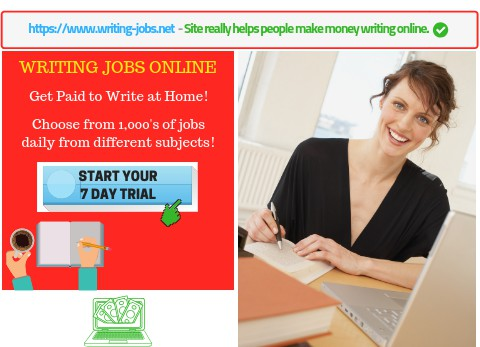 Writingjobs Get Paid to Write at Home