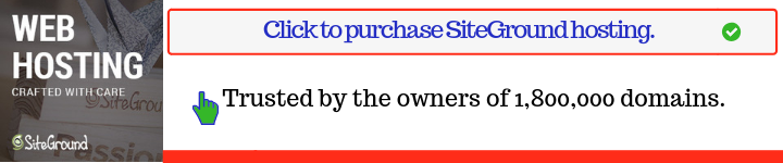 1. Siteground hosting