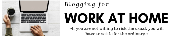 Blogging for work at home