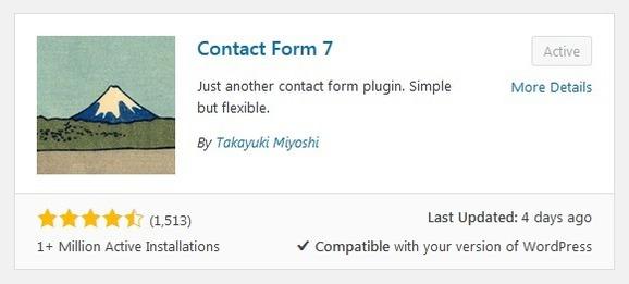 Plugin Contact form 7