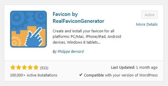 Plugin Favicon by RealFaviconGenerator