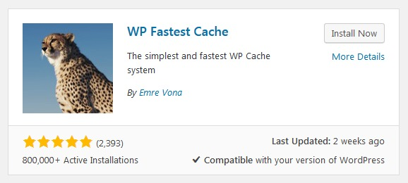 WordPress Plugin WP Fastest Cache