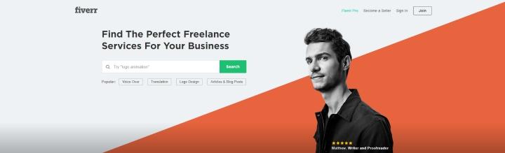 Fiverr website