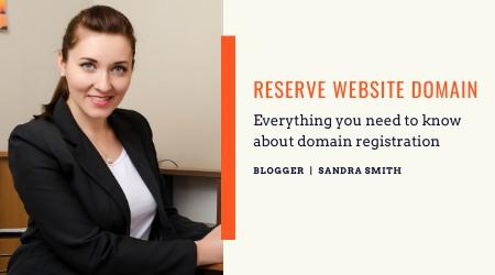 reserve website domain to start blogging