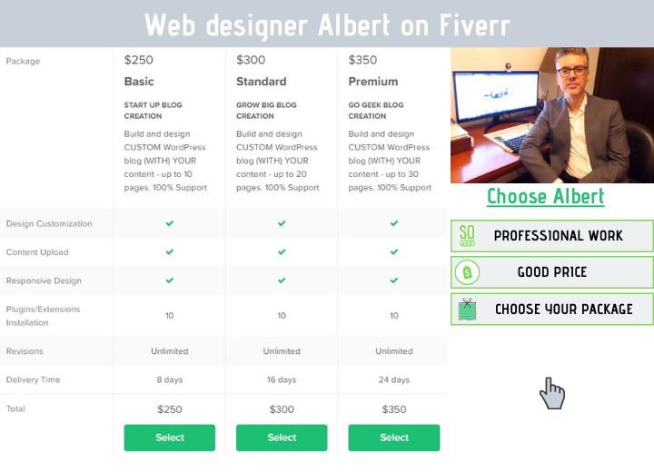professional web designer Albert