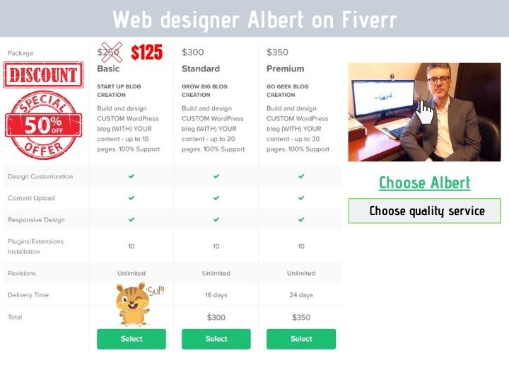 special discount web design
